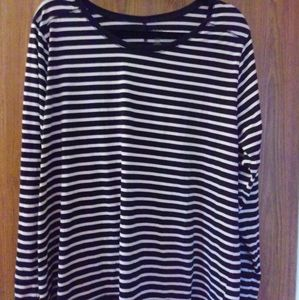 Ana Woman Striped Top Size 3X EUC